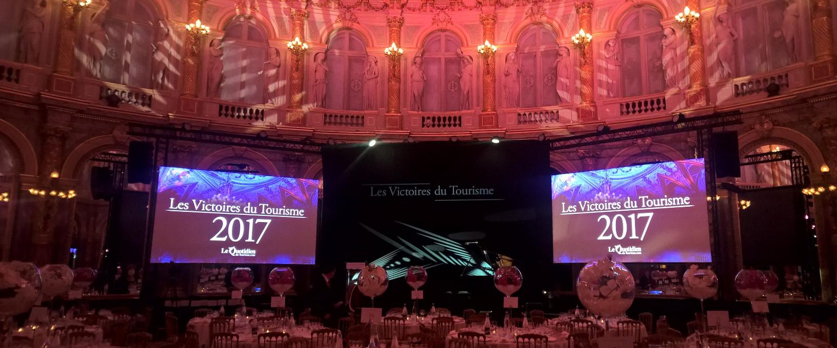 Visuel Les Victoires du Tourisme 2017 avec Larivière Organisation