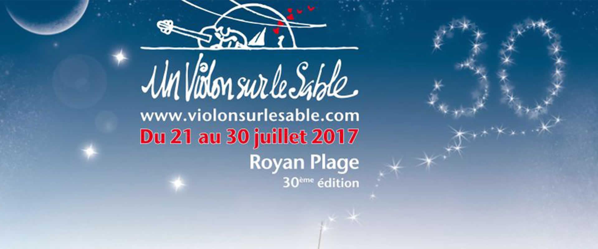 Visuel Un Violon sur le sable avec les équipes de Paris et Bordeaux