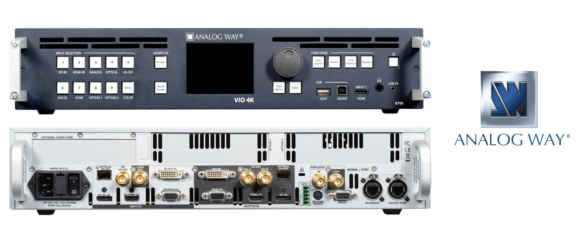 Visuel Convertisseur multi-format 4K d'Analog Way