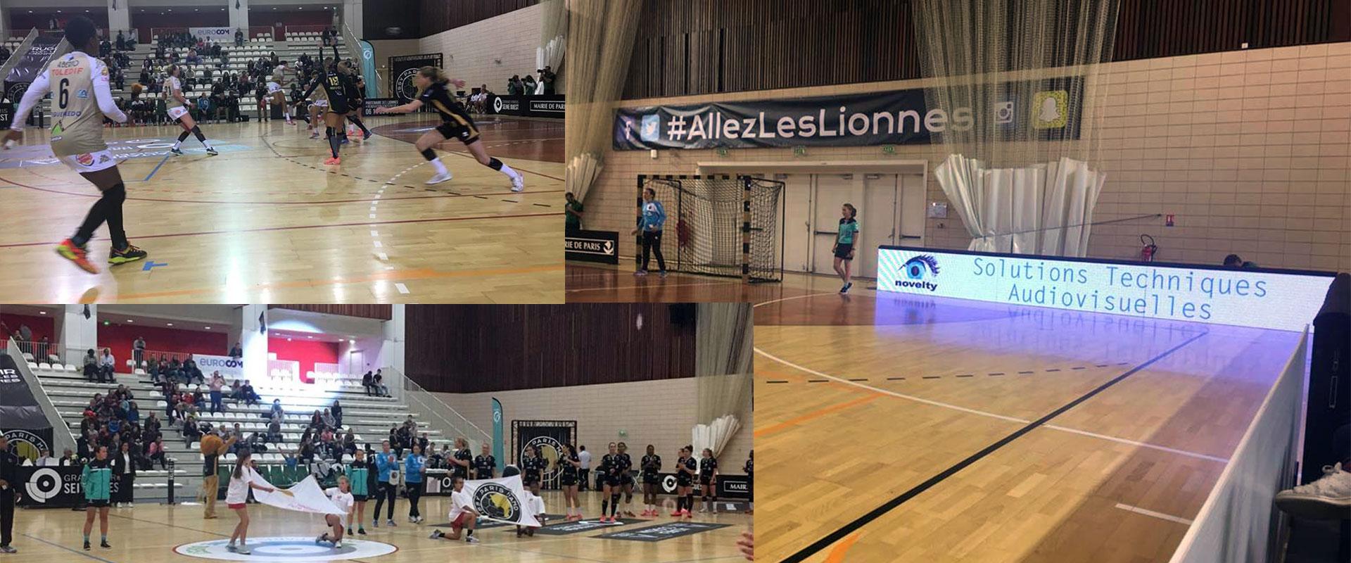 Visuel Novelty partenaire des Lionnes du Club Issy Paris Handball