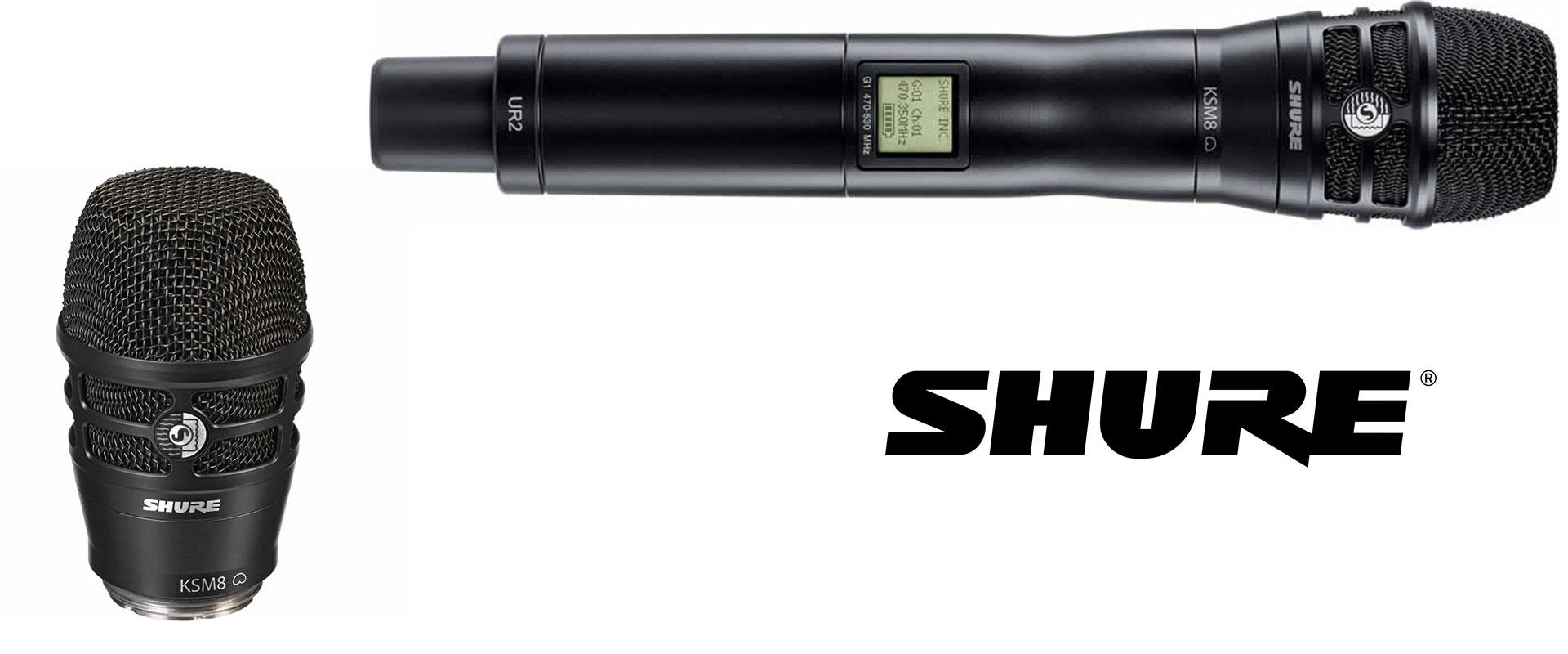 Visuel KSM8 de Shure pour micros HF main