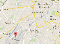 Plan accès hub Benelux Bruxelles