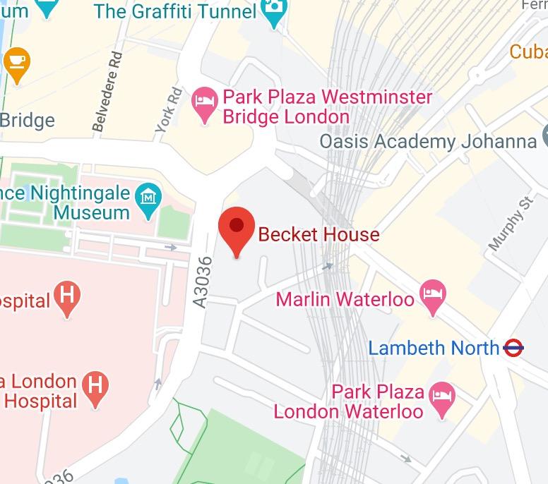 Plan accès hub Londres
